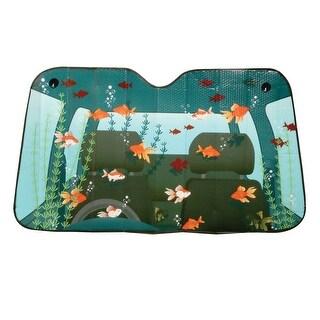 Comical Car Windshield Sun Shades - Fish Tank - fish tank