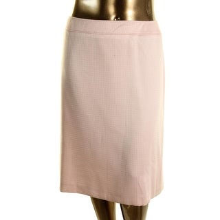 Tahari ASL Womens Plus Joelee Textured Knee-Length Pencil Skirt - 20W