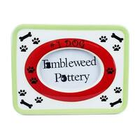 Number One Dog Ceramic Picture Frame
