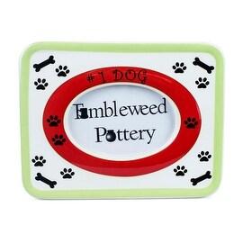 Number One Dog Ceramic Picture Frame