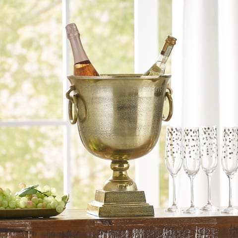 Luttrell Indoor Aluminum Handcrafted Champagne Cooler by Christopher Knight Home