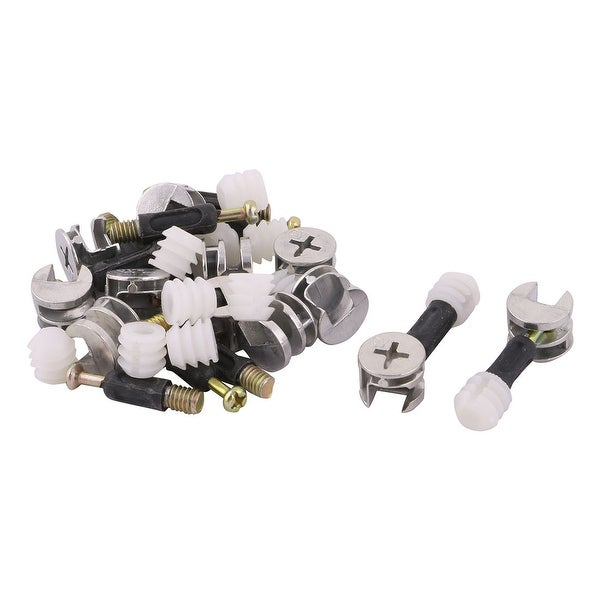 Hotel Metal Furniture Cabinet Cam Lock Connecting Fitting Dowel Nut 12 Sets
