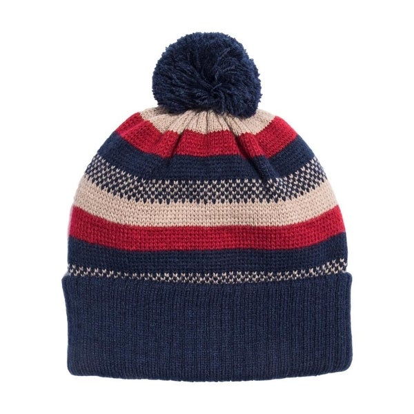 Shop Muk Luks Hat Mens Pom Pom Beanie Lightweight One Size - Free Shipping  On Orders Over  45 - Overstock - 18967354 423ffd514d8