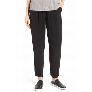 Eileen Fisher NEW Black Womens Size Medium M Tapered Casual Pants