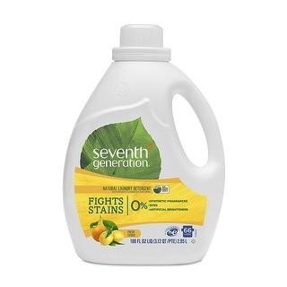 Seventh Generation Natural Laundry Detergent; Fresh Citrus - (Case of 4 - 100 fl oz)