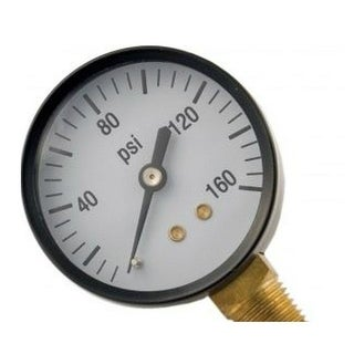 """Forney 75554 Air Line Pressure Gauge With Bottom Mount, 2-1/4"""" x 1/4"""" NPT"""