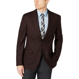 Link to Tommy Hilfiger Mens Sportcoat Wool Blend Modern Fit - Red/Black - 40S Similar Items in Sportcoats & Blazers