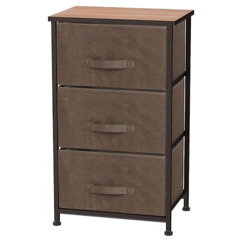 3 Drawer Storage Organizer, Brown