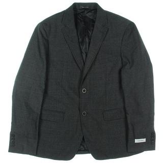 Calvin Klein Mens Jacket Wool Blend Herringbone