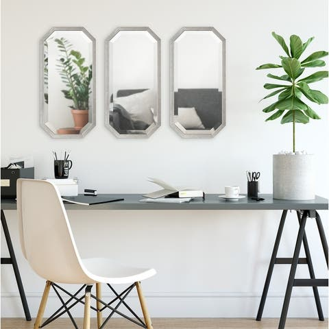 Kate and Laurel Laverty Octagon Accent Mirror Set - 3 Piece