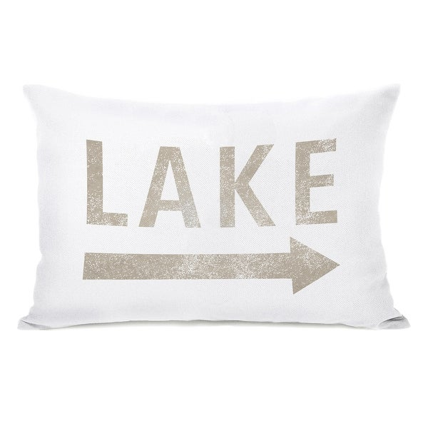 Lake Arrow - White Lumbar Pillow. Opens flyout.
