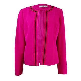Kasper Women's Petite Embroidered Crepe Open Front Blazer|https://ak1.ostkcdn.com/images/products/is/images/direct/5145454105dd7045848d9a25f2197024f18084a4/Kasper-Women%27s-Petite-Embroidered-Crepe-Open-Front-Blazer.jpg?impolicy=medium