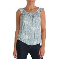 Denim & Supply Ralph Lauren Womens Casual Top Floral Print Off-The-Shoulder