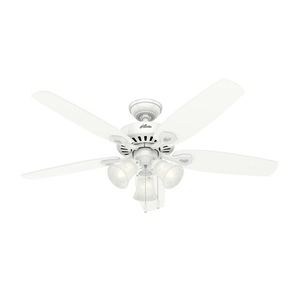 Hunter 52-inch Builder Plus White Ceiling Fan. Opens flyout.