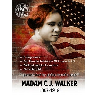 Madam CJ Walker Poster Hair Products Inventor Quote Black History Art Print