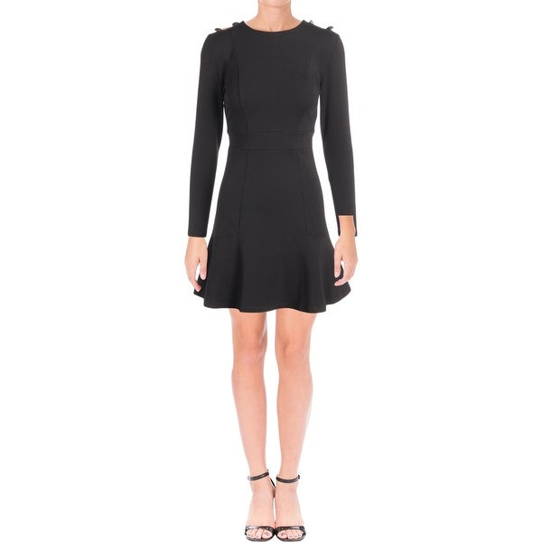 Juicy Couture Black Label Womens Party Dress Long Sleeves Mini