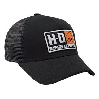 Harley-Davidson Mens Embroidered H-D Willie G Skull Baseball Cap, Black BCC04330