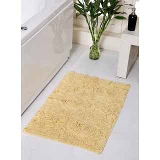 "Link to Bell Flower Collection Cotton Bath Rug 24""x40"" Similar Items in Bath Mats & Rugs"