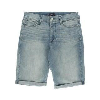 NYDJ Womens Slimming Light-Wash Denim Shorts - 10