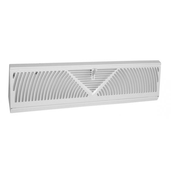 Imperial RG1627-A Baseboard Register, White, 18