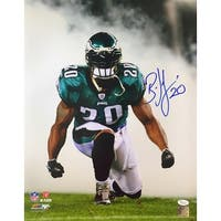 Brian Dawkins Philadelphia Eagles Signed 16x20 Smoke Photo JSA