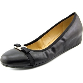 Vaneli 55782 Open Toe Leather Wedge Heel
