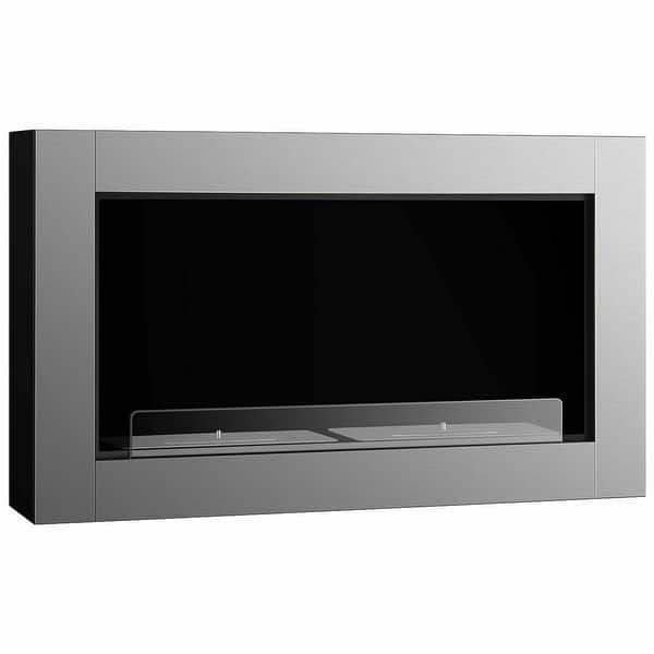 Shop Gymax 38 Inch Wall Mounted Bio Ethanol Fireplace Ventless