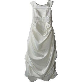 Kid Collection Girls Satin Ruched Special Occasion Dress - 14