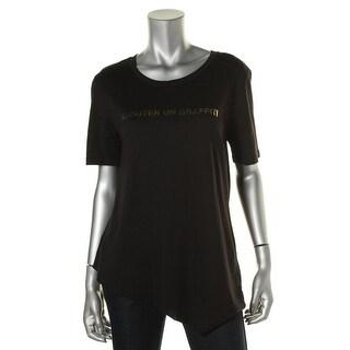 Zara Special-T Womens Modal Blend Foild T-Shirt - L