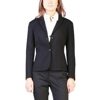 Prada Women's Viscose Nylon Blend Jacket Black