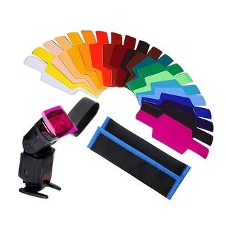 20pcs Photographic Speedlite Flash Color Gels Universal Lighting Cinegel Filter Kit for Canon Nikon Nissin Panasonic