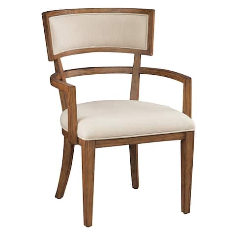 Hekman Furniture Bedford Park Solid Mango Wood Arm Dining Chair