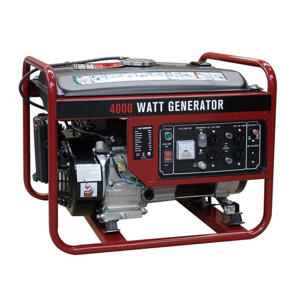Awe Inspiring Shop Costway 4000W Gasoline Generator 4 Stroke 208Cc Air Download Free Architecture Designs Scobabritishbridgeorg