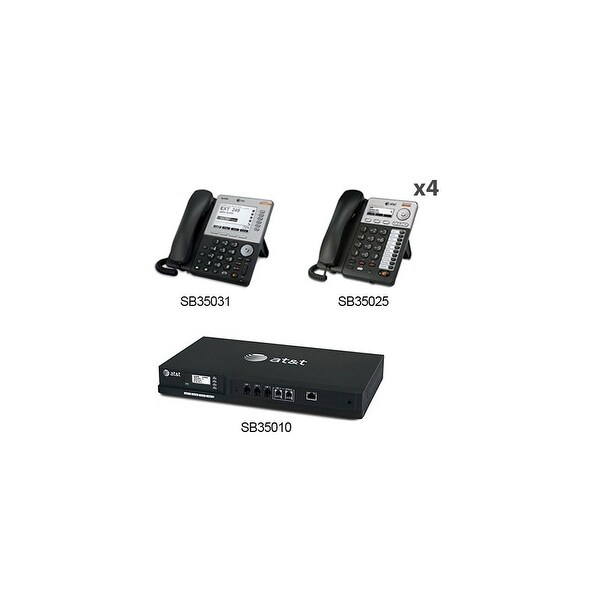 AT&T SB35010 + (4) SB35025 + (1) SB35031 SB35010 With (5) Multi-Line Desksets