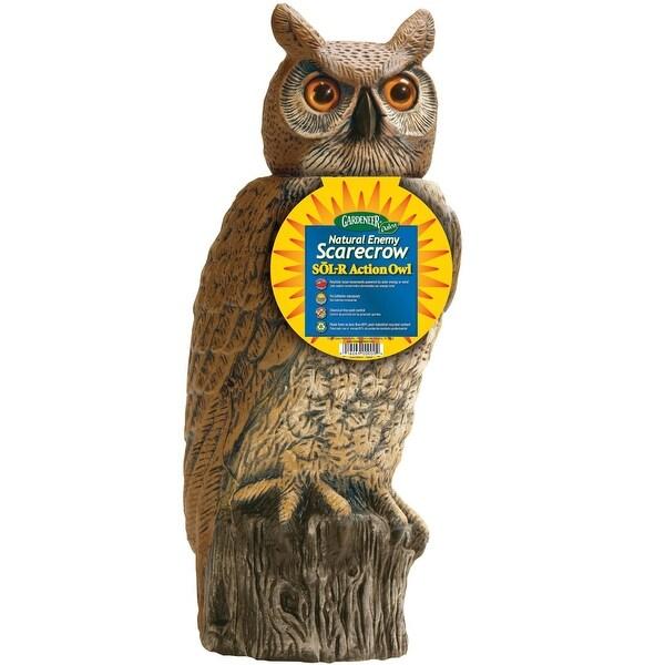 """Dalen SRHO-4 Garden Defense Solar Action Owl, 18"""""""