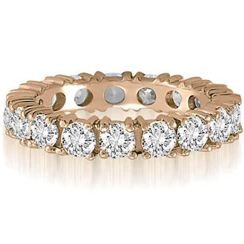 2.50 cttw. 14K Rose Gold Round Cut Diamond Eternity Wedding Band
