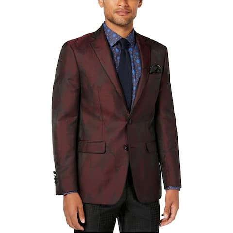 Tallia Mens New Wave Two Button Blazer Jacket, red, 48 Regular - 48 Regular
