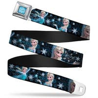 Frozen Logo Full Color Blues Elsa The Snow Queen Poses Perfect And Powerful Seatbelt Belt