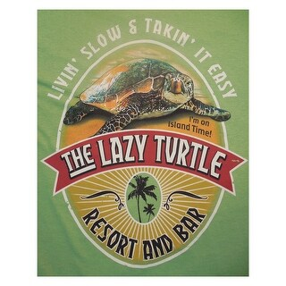 Outhouse Designs Mens Lazy Turtle Shirt