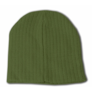Short Cable Beanie- Olive