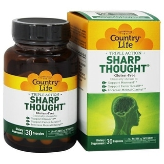 Country Life Vitamins Sharp Thought (30 Veggie Caps)