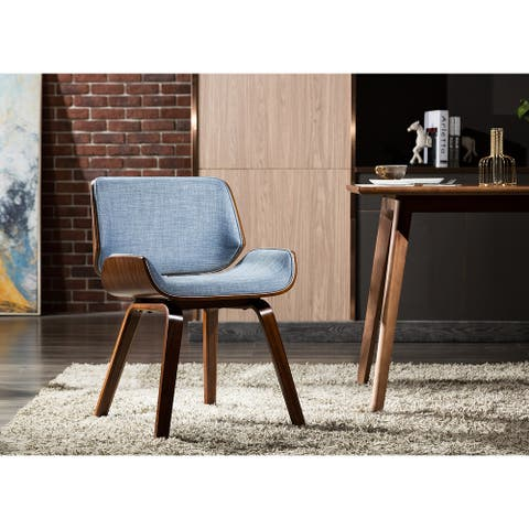 Porthos Home Stride Dining Chair, Fabric Upholstery, Bentwood Legs