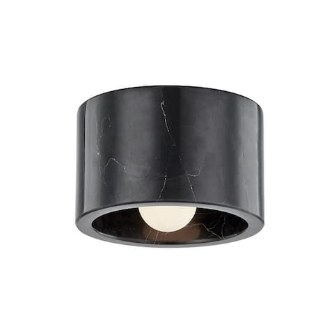 Carbon Loft Nordquist 1-light Polished Nickel Flush Mount or Wall Sconce