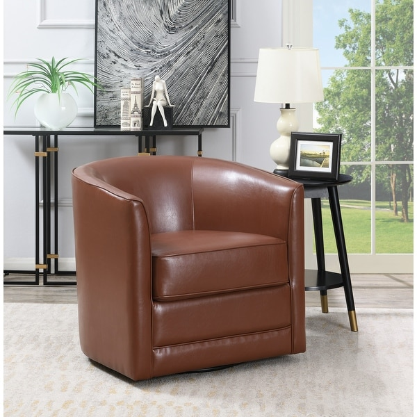 Copper Grove Domenic Contemporary Upholstered Swivel Accent Chair. Opens flyout.