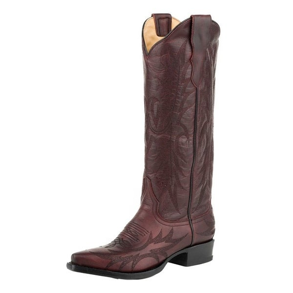 Stetson Western Boots Womens Violet Leather Wine