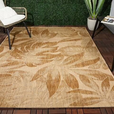 Werber Tropical Leaf Indoor/Outdoor Area Rug