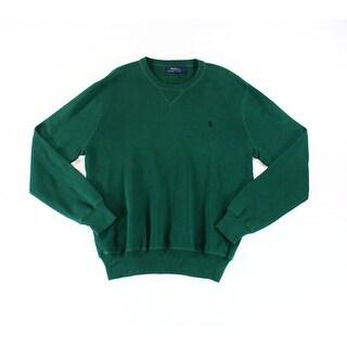Polo Ralph Lauren NEW Forest Green Mens Size Medium M Crewneck Sweater