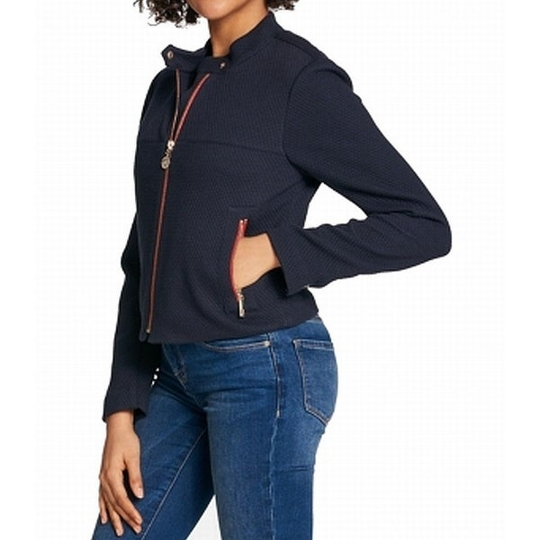 5399b7022 Shop Tommy Hilfiger Navy Womens Quilted Front-Zip Jacket - Free Shipping On  Orders Over $45 - Overstock - 27010814