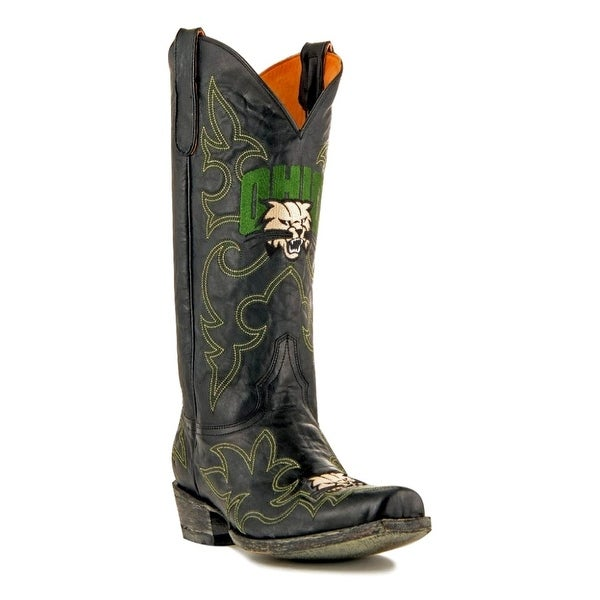 Gameday Boots Mens Leather College Team Ohio Bobcats Black