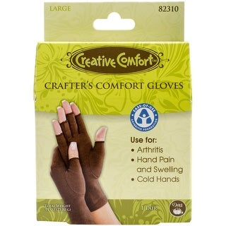 Creative Comfort Crafter's Comfort Gloves 1 Pair-Large